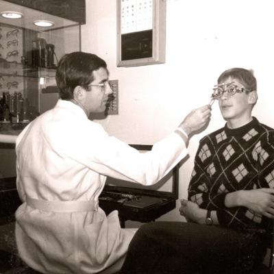 Mr Vester working at Van der Geest Optics
